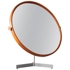 1960s Teak Table Mirror of Luxusvittsjö Sweden Uno & Östen Kristiansson