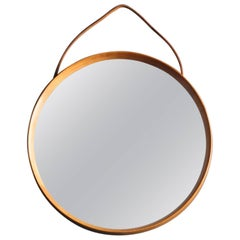 1960s Teak Wall Mirror from Luxus Vittsjö Sweden Uno & Östen Kristiansson