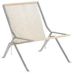 "Poul Kjærholm ""PK 25"" Lounge Chair with Stainless Steel Frame"