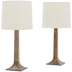 Pair of Tables Lamps, Bronze, circa 1950, France
