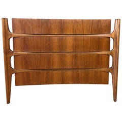 William Hinn for Urban Furniture Sculptural Walnut Four-Drawer Dresser