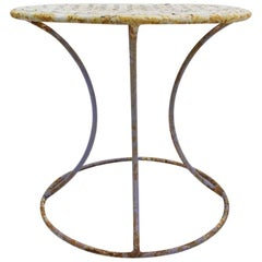 Wrought Iron Side Table Attributed to Woodard