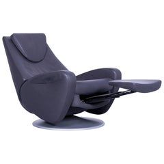 De Sede DS 220 Leather Armchair Grey One-Seat Recliner