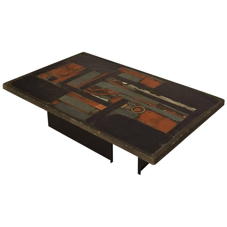Brutalist Coffee Table from Paul Kingma, 1970s