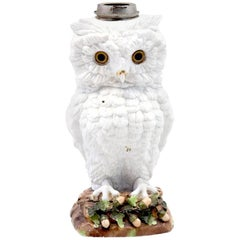 Ceramic Sculpture Representing an Owl, circa 1880