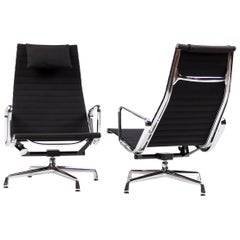 Eames EA 124 Aluminium Lounge Chairs for Vitra