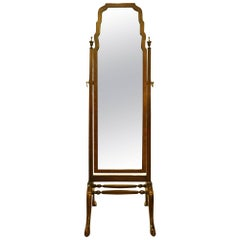 Mahogany Framed Cheval Mirror