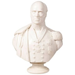 19th Century Marble Bust of Lt General Sir Lewis Grant