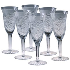 24 Pieces Crystal Drinking Set by Moser, Czech Republic, 1960