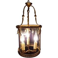French Bronze Lantern with Three Candlelights