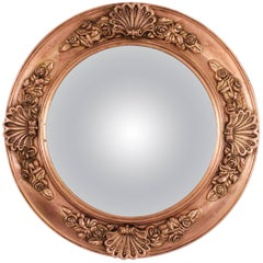 19th Century English Regency Molded Copper Circular Convex Mirror