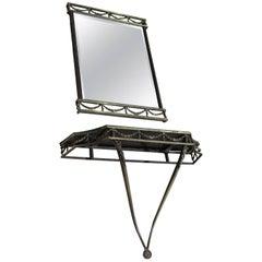 Italian Mirror Console with Matching Mirror, Casa Veneto, 1900s