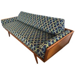 Signed Mid-Century Modern Mel Smilow for Smilow, Thielle Cased Minimalist Sofa