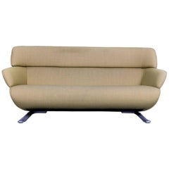 Rolf Benz Fabric Sofa Green Two-Seat Couch