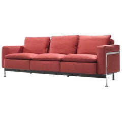 Robert Haussmann Sofa in Red Fabric