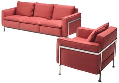 Robert Haussmann Red Living Room Set
