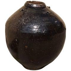 Glazed Ceramic Storage Jar ' Martaban' Vietnam 16th or 17th Century