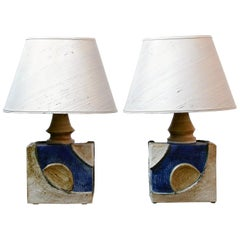Single French Ceramic Table Lamp