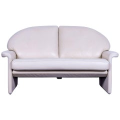 De Sede Leather Sofa Off-White Two-Seat Couch