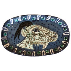 "Picasso Edition Madoura Dish ""Goat's Head in Profil"" 1952"