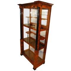 Biedermeier Vitrine/ Display Case, Three sides glass, Southwest Germany 19th c.