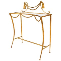 French Art Moderne '1940s' Rope and Tassel Freestanding Console