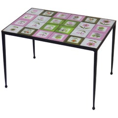 """1950s Tiles Coffee Table in the Style of the """"Quatre Potiers"""""""