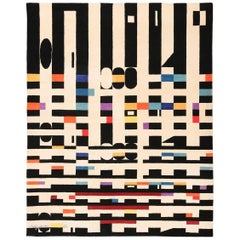 Vintage Geometric Israeli Rug by Yaacov Agam