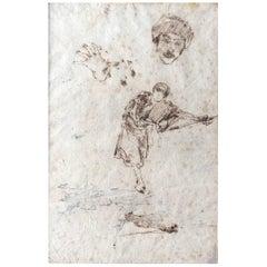 Giuseppe Casciaro, Venetian Figure Study