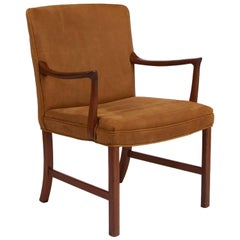 1960s Leather Ole Wanscher Chair