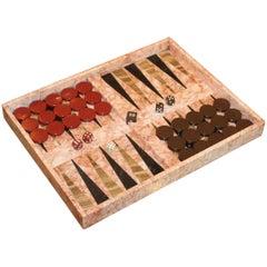 1970s Italian Marble Backgammon Set
