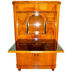 Biedermeier Secretary, Cherry Veneer, Germany, circa 1825