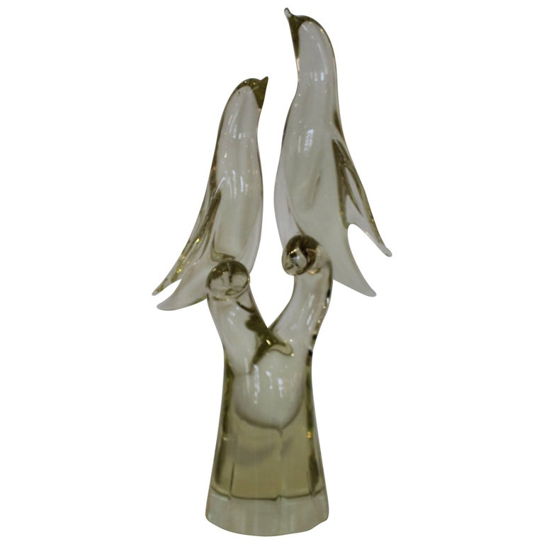 Salviati Murano Glass Bird Sculpture