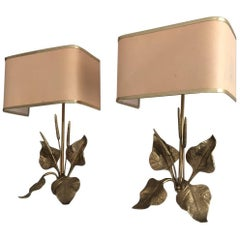 Pair of French Mid-Century Modern Sconces in the Style of Maison Charles