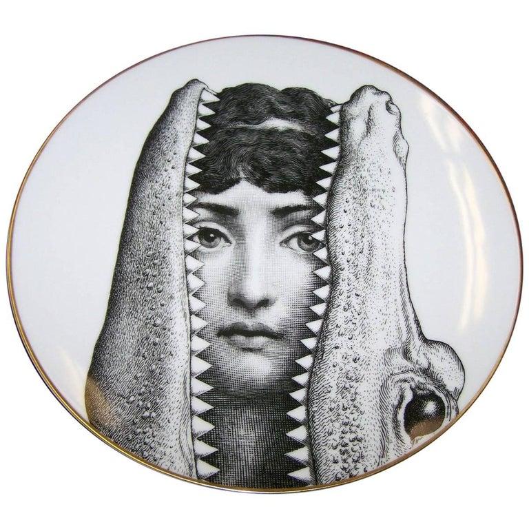 Rosenthal Fornasetti Porcelain Plate, Motiv 24, 1980s