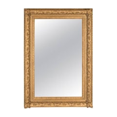 Large Antique Wall Mirror, Victorian, Gilt Gesso Frame, Overmantel, circa 1880