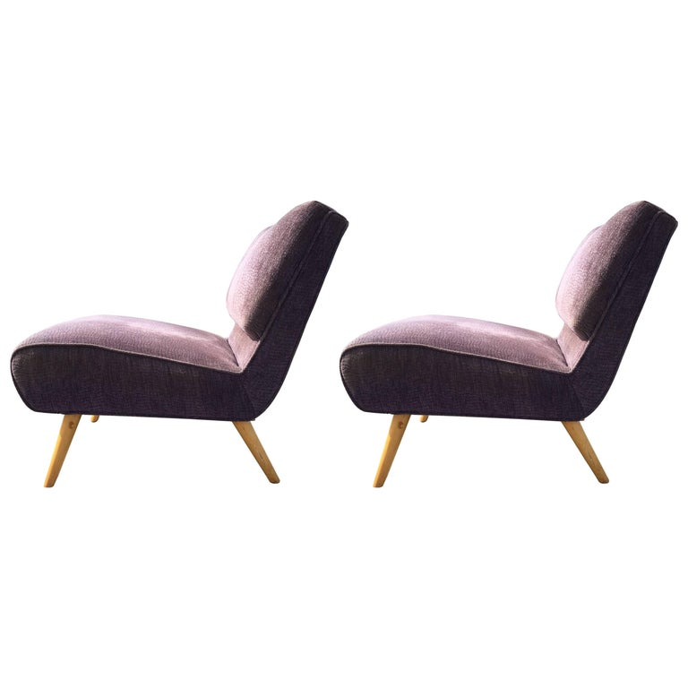 Pair of Lounge Chairs in the Style of Paul McCobb, USA, 1950s