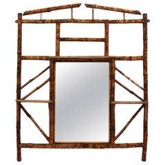 19th Century Bamboo Overmantel Mirror