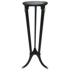 Beautiful French Empire Style Ebonized with Bronze Hardware Pedestal circa 1920s