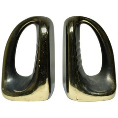 Midcentury Metal Bookends in the Style of Ben Seibelm, circa 1960s