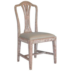 Swedish Gustavian Chair with Wheat Carving, Circa 1780, Origin: Sweden