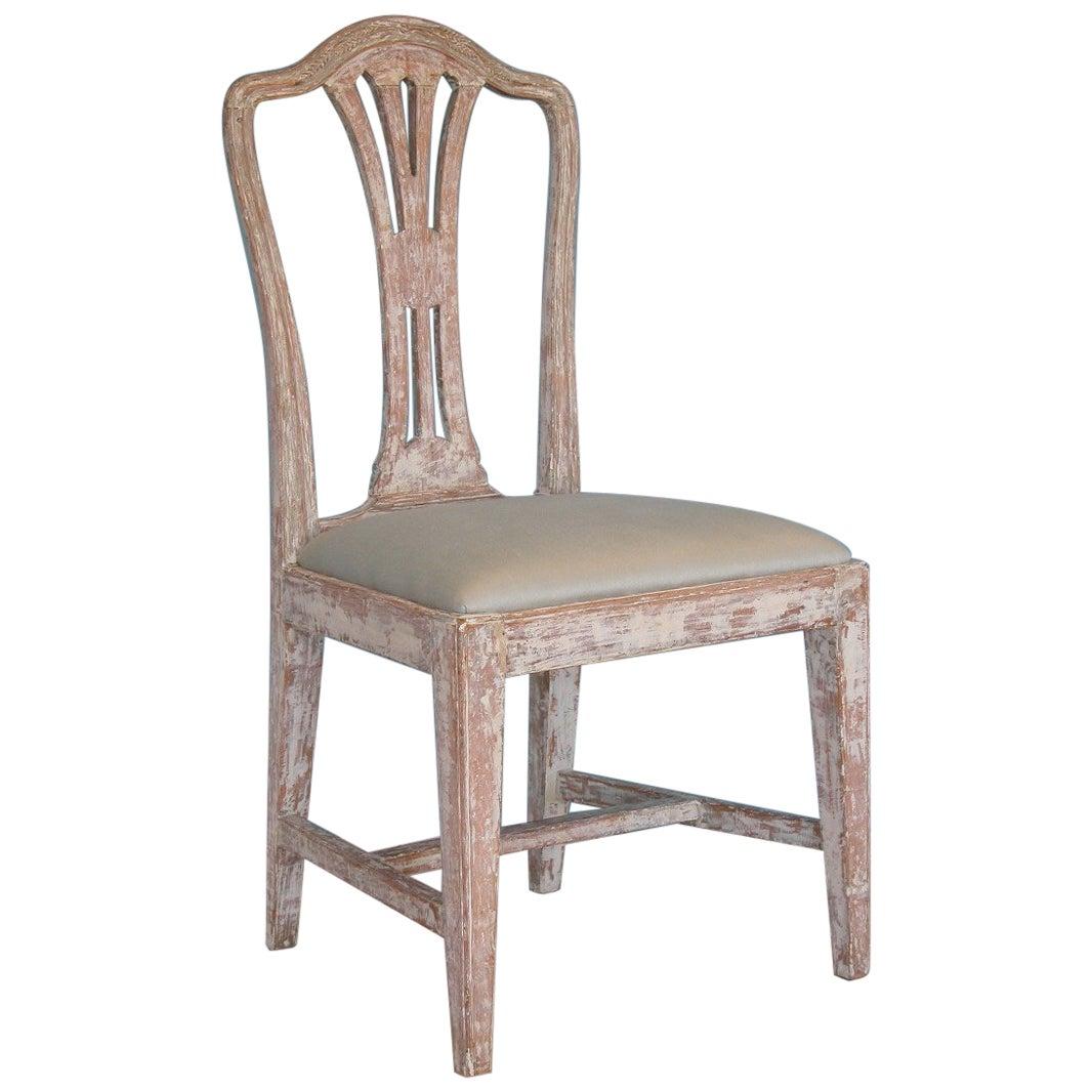 Swedish Gustavian Chair with Wheat Carving, Circa 1780, Origin: Sweden