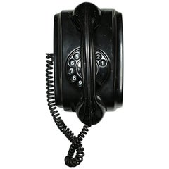 Midcentury All Bakelite Rotarty Dial Dutch Telephone, circa 1950s