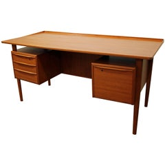 Danish Modern Peter Løvig Nielsen Dansk Teak Floating Top Desk