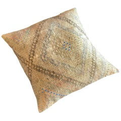 Pasha Two Floor Cushion with Authentic Turkish Kilim Cover