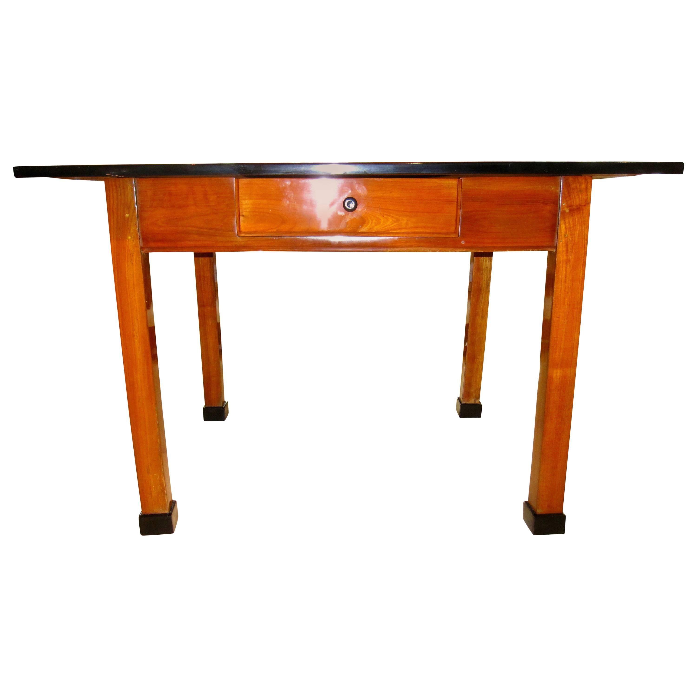 Biedermeier Table, One Drawer, Cherry Wood, South Germany, Circa 1820