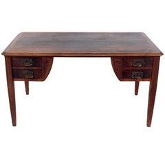 French Art Nouveau Rosewood Desk or Bureau Plat