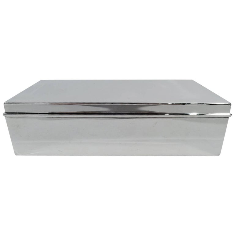 Tiffany Smart and Modern Sterling Silver Desk Box