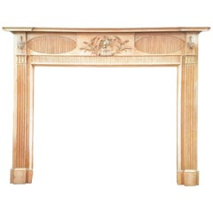 Early 19th Century Antique Pine & Gesso Georgian Timber Fireplace Surround