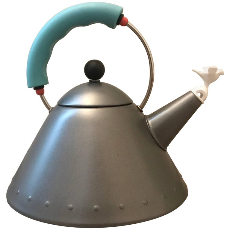"""Rare Postmodern Tea Kettle """"9093 Kettle"""" by Michael Graves for Alessi"""